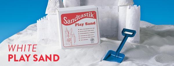 Sandtastik PLA25 Sparkling White Play Sand - 25 lb Box
