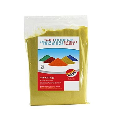 Sandtastik CS0507 Classic Coloured Sand - Yellow - 5 lb